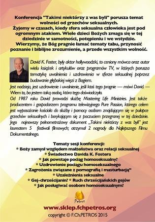 Konferencja z Davidem K.Fosterem TAKIMI NIEKTÓRZY Z WAS BYLI (2)